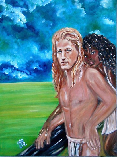 &quot;Vikings in America, B.H.&quot; Interracial Lovers Series by Yesi Casanova