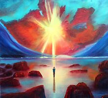 Sun And Solitude Painting by Stuart Kirby