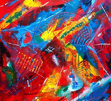 Fiesta Time Abstract Painting by Stuart Kirby