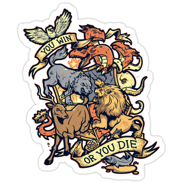 Win or Die - STICKER by WinterArtwork