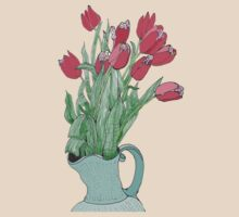 Red Tulips ~  by James Lewis Hamilton