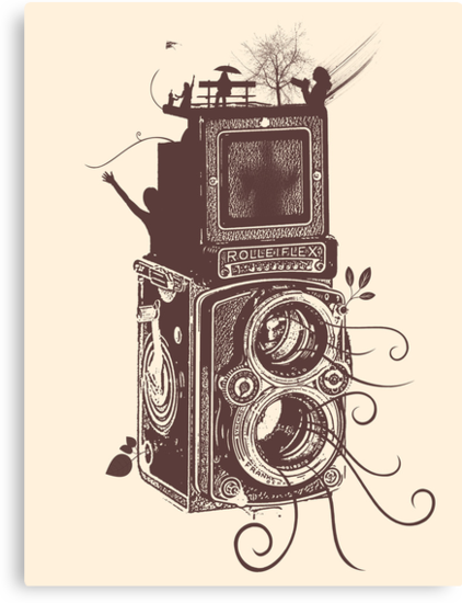 Retro Rolleiflex - Evolution of Photography - Vintage #2 by Denis Marsili - DDTK