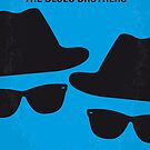 No012 My Blues brothers minimal movie poster by Chungkong