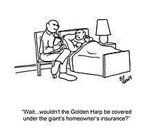 Funny Financial Cartoon Photographic Print