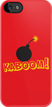 KABOOM cartoon explosion noise with bomb by jazzydevil