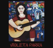 "Violeta Parra  and the song ""Black wedding"" T-shirt by Madalena Lobao-Tello"