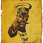Vintage Zombie Recruitment Poster by Alibarbarella