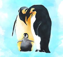 Penguin Family by Joan A Hamilton