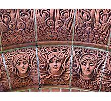 The Watts Mortuary Chapel -Brick Detail - HDR Photographic Print