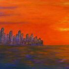 Skyline with sunset by olivia-art