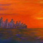 Skyline with sunset by olivia-art
