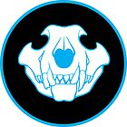 Cougar Skull : Cyan by Andrea Brooks