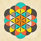 SACRED GEOMETRY: THE FLOWER OF LIFE by JazzberryBlue