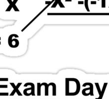 Exam Day Sticker