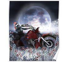 Star Spangled Biker Poster
