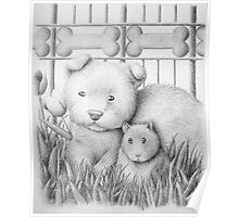 Dog And Hamster Poster
