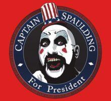 Captain Spaulding For President Kids Clothes
