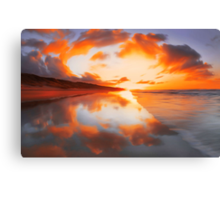 """Fiery sky II"" Canvas Print"