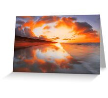 """Fiery sky II"" Greeting Card"
