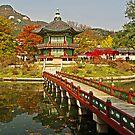 Footbridge to Hyangwonjeong Pavilion by TonyCrehan