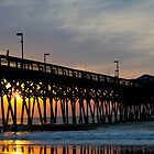 Pier at Garden City Saturday Morning Sunrise  by donaldhovis