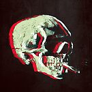Van Gogh Skull with burning cigarette remixed 3 by filippobassano