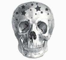 Albinus Skull 06 - Wannabe Star - Black Background Kids Clothes