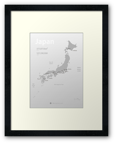 Map of Japan poster by Philip Seyfi
