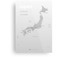 Map of Japan poster Metal Print