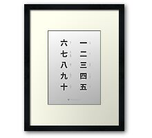 Japanese numbers cheat sheet & poster Framed Print