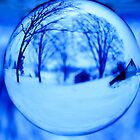 REDREAMING CRYSTAL BALL : Winter in Blue by REDREAMER
