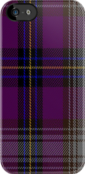 00837 West Coast Woven Mills Fashion Tartan #1873-4 Fabric Print Iphone Case by Detnecs2013