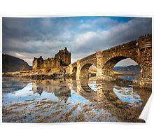 Morning Light on Eilean Donan Castle Poster