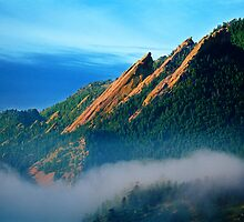 Flatirons And Fog by Greg Summers