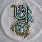 Celtic Oscar letter Y  Embroidery by Donnahuntriss