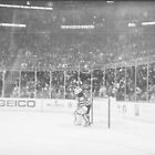 Martin Brodeur in black and white by David  Anderson