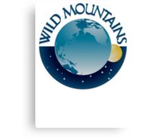 Wild Mountains Logo Canvas Print