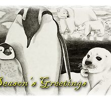 Season's Greetings Arctic Animals by jkartlife