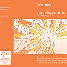 Morning Detox, tea bag box mock up by Lyndsey Hale