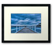 Along the jetty Framed Print