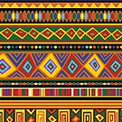Ethnic Colorful Pattern Africa Art by BluedarkArt