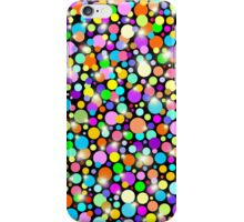 Psychedelic Colors Bright Polka Dots iPhone Case/Skin