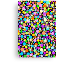 Psychedelic Colors Bright Polka Dots Canvas Print