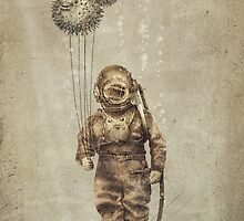 Balloon Fish (Sepia) by Eric Fan