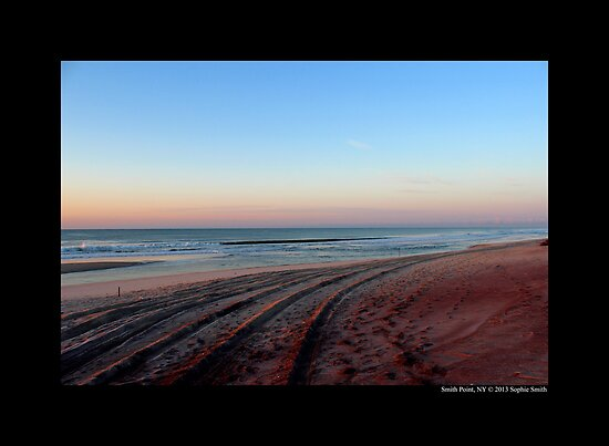 Atlantic Ocean Beach - Smith Point Country Park, New York by © Sophie W. Smith