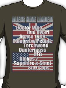 UK to USA - Aliens Have Landed T-Shirt