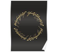 Lord of the Rings - The One Ring (Gold on Black) Poster