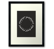 Lord of the Rings - The One Ring (Black) Framed Print