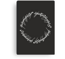 Lord of the Rings - The One Ring (Black) Canvas Print