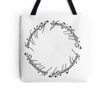 Lord of the Rings - The One Ring (White) Tote Bag